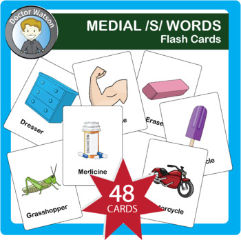Medial S Flashcards 3x5 in Color and B&W