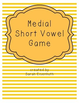 Medial Short Vowel Board Game