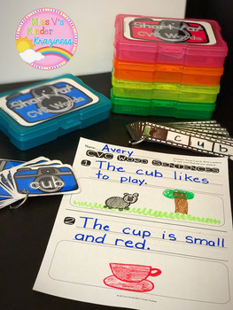 Medial Short Vowel CVC Words-Real Photo Task Cards for Literacy Centers