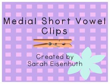 Medial Short Vowel Clip Cards