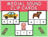 Medial Sound Clip Cards - short vowel sounds