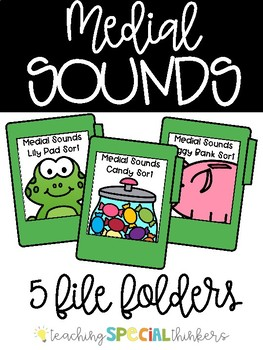 Medial Sound File Folders (Sorting sounds by their medial sound)