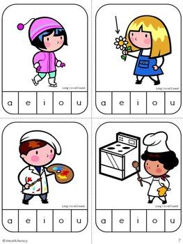 Medial Sound Long Vowel Match Game: Kindergarten & 1st Grade RTI