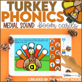 Thanksgiving Activities Medial Sounds | Digital Boom Cards