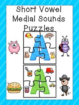 Short Vowel Activity / Short Vowel Word Work / Medial Sounds