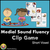 Medial Sound Short Vowel Match Game: Kindergerten & 1st Grade RTI