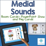 Medial Sounds - Boom Cards™, PowerPoint, Peg Cards