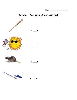 Medial Sounds Assessment