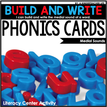 Medial Sounds Build and Write Cards