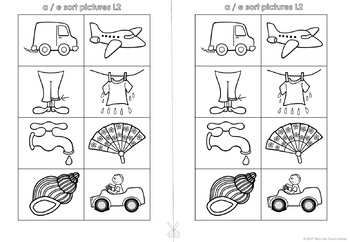 Medial Sounds Cut and Sort Booklet