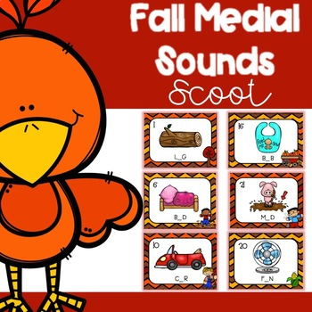 Fall Medial Sounds Scoot/ Write the Room
