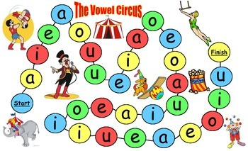 Medial Sounds Game Vowel Circus