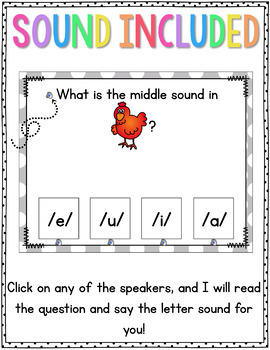 Medial Sounds Identification PowerPoints