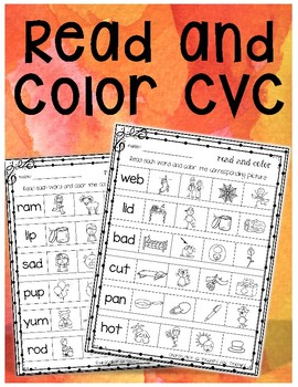 Read and Color CVC