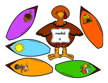 CVC Medial Sounds - {Turkeys} - Differentiated!!