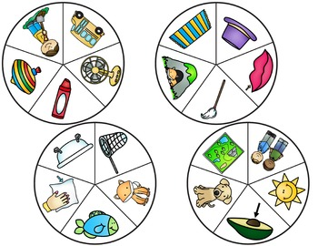 Medial Vowel Circle Clip-It Cards