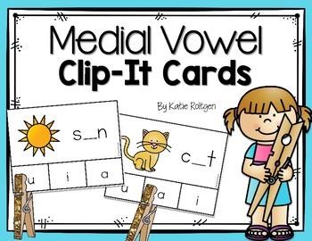 Medial Vowel Clip-It Cards