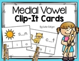 Medial Vowel Clip-It Cards