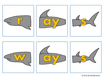 Medial Vowel Digraph -ai/-ay Cards
