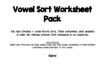 Medial Vowel Sorts