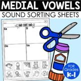 Medial Vowel Sorts {Phonemic Awareness Sorting Series, Set #6}