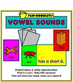 Medial Vowel Sounds Flip Booklets