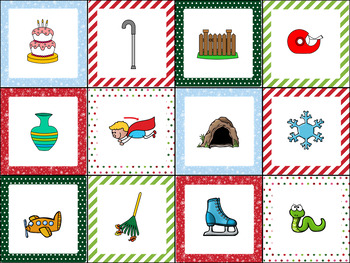 Medial Vowel Sounds Sort- Christmas Theme