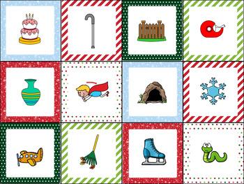 Medial Vowel Sounds Sort- Christmas Theme