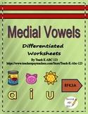 Medial Vowels: Differentiated Worksheets