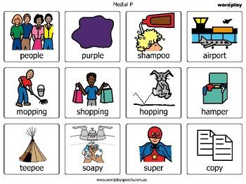 Medial consonant deletion - articulation cards