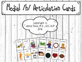 Medial /h/ Articulation Cards