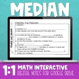 Median Digital Math Notes