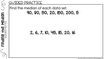 Median Digital Math Notes