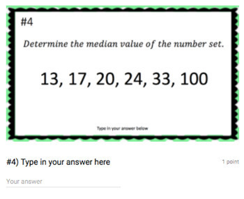 Median (Google Form & Interactive Video Lesson!)