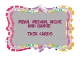 Median, Mode, Mean and Range Task Cards