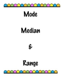 Median, Mode, Range