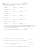 Median, Mode, Range and Double Bar/Line Graph test