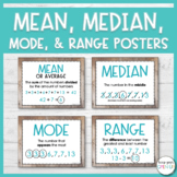 Median, Mode, Range and Mean Posters