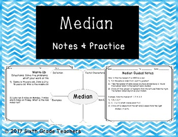 Median Notes and Practice Resources