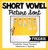Median Short Vowel Picture Sort FREEBIE