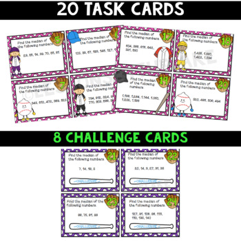 Median Task Cards (Data Landmarks)