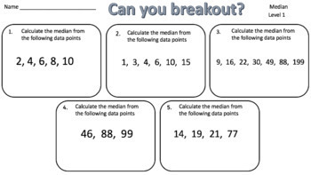 Median – Two Breakout Activities - Perfect for Google Classroom!
