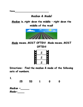 Median and Mode
