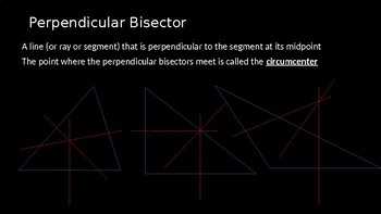 Medians, Altitudes, and Perpendicular Bisectors - PowerPoint Lesson (4.6)
