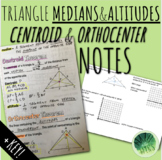 Medians & Altitudes of Triangles (Centroid & Orthocenter) Notes