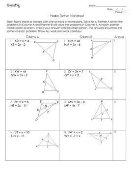 medians of a triangle worksheet kidz activities. Black Bedroom Furniture Sets. Home Design Ideas