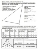 Medians Centroids and the Triangle Inequality Fall 2013 (Editable)
