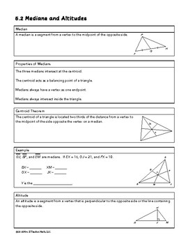 Medians and Altitudes in Triangles Lesson