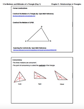Medians and Altitudes of a Triangle (Lesson with Homework)