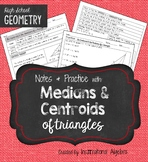 Medians and Centroids of Triangles: Notes & Practice